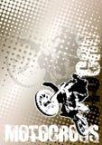 Bruine de afficheachtergrond van de motocross Stock Fotografie