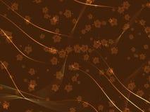 Bruine de herfstachtergrond Stock Afbeeldingen