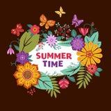 Bruine de zomerachtergrond Stock Afbeeldingen