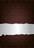 Bruine decoratieve achtergrond Stock Afbeelding