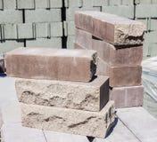 Bruine decoratieve baksteen Royalty-vrije Stock Foto
