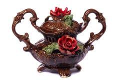 Bruine decoratieve vaas Royalty-vrije Stock Foto