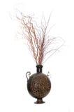 Bruine decoratieve vaas Royalty-vrije Stock Foto's