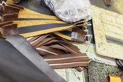 Bruine delen van handtassen Royalty-vrije Stock Afbeelding
