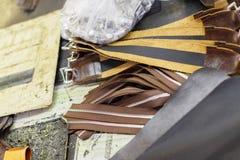 Bruine delen van handtassen Royalty-vrije Stock Foto's