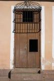 Bruine deur Stock Foto's