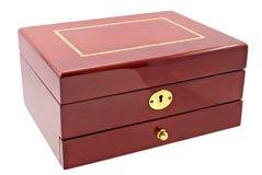 Bruine doos voor schoonheidsmiddel of juwelen royalty-vrije stock afbeeldingen