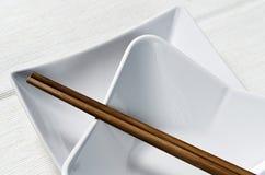 Bruine eetstokjes royalty-vrije stock afbeeldingen
