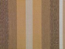 Bruine en beige retro stoffentextuur Stock Afbeeldingen