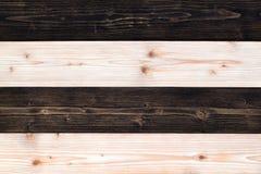 Bruine en donkere bruine houten textuur met natuurlijk gestreept patroon B Stock Afbeelding