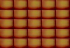 Bruine en Gele Gekleurde Abstracte Rechthoekige Patroonachtergrond, Illustratie Kan voor decoratie worden gebruikt stock afbeeldingen