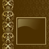 Bruine en gouden achtergrond vector illustratie