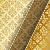 Bruine en gouden achtergrond stock illustratie