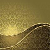 Bruine en gouden achtergrond royalty-vrije illustratie