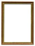 Bruine en gouden omlijsting Stock Afbeelding