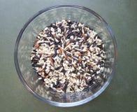 Bruine en wilde rijst Stock Foto