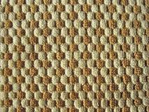 Bruine en witte de stoffentextuur van de hulppluche Royalty-vrije Stock Afbeelding