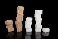 Bruine en Witte Suiker royalty-vrije stock afbeelding