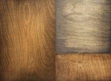 Bruine en zwarte triplex houten achtergrond stock fotografie