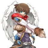 Bruine engelen anime stijl Royalty-vrije Stock Afbeeldingen
