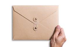 Bruine envelop Royalty-vrije Stock Fotografie