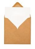 Bruine envelop Royalty-vrije Stock Afbeeldingen
