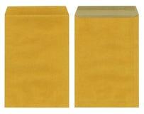 Bruine envelop die op wit wordt geïsoleerdw Royalty-vrije Stock Afbeeldingen