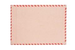Bruine envelop op wit Royalty-vrije Stock Afbeelding