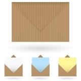 Bruine enveloppen Royalty-vrije Stock Afbeelding