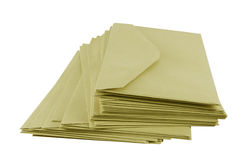 Bruine enveloppen Royalty-vrije Stock Foto's