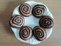 Bruine espiral stock foto's