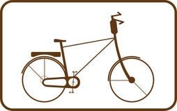 Bruine fiets op witte achtergrond in frame Royalty-vrije Stock Foto