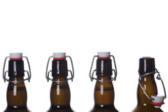 Bruine fles Stock Fotografie