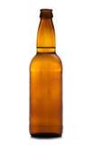 Bruine fles cider royalty-vrije stock fotografie
