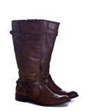 Bruine geïsoleerdeg laarzen Stock Foto