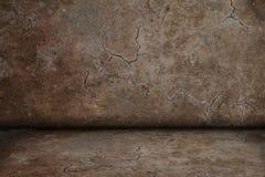 Bruine gebarsten ruimtetextuur Stock Foto