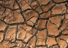 Bruine gebarsten textuur Stock Afbeelding