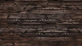 Bruine geborstelde houten textuur, hoogste mening van houten lijst Donkere muurachtergrond, textuur van oude hoogste lijst, grung stock foto's