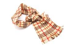 Bruine Gecontroleerde Sjaal Stock Foto's