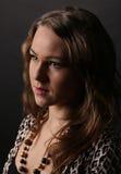 Bruine gehoorde vrouw Royalty-vrije Stock Foto