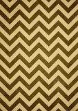 Bruine gele retro het patroonachtergrond van de chevronzigzag Stock Foto