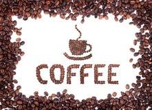 Bruine geroosterde koffiebonen royalty-vrije stock foto's