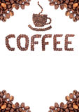 Bruine geroosterde koffiebonen stock afbeeldingen