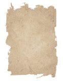 Bruine gescheurde die grunge document textuur op witte achtergrond wordt geïsoleerd royalty-vrije stock afbeelding