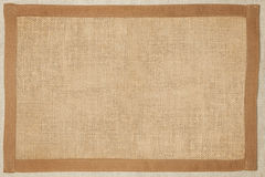 Bruine geweven stoffenachtergrond. Stock Foto's
