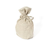 Bruine geweven zak. Stock Afbeelding