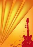 Bruine gitaar Royalty-vrije Illustratie