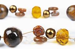 Bruine glasparels Royalty-vrije Stock Afbeelding