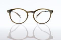 Bruine glazen stock afbeelding