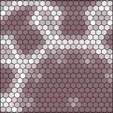 Bruine grijze honingraat - abstract hexagon net Royalty-vrije Stock Afbeelding